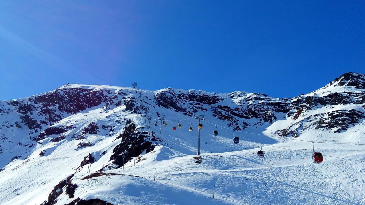 Meribel Sunny Snow Ski France Mountain Cold Temperature Beauty In Nature Non-urban Scene Sky Outdoors Winter Landscape