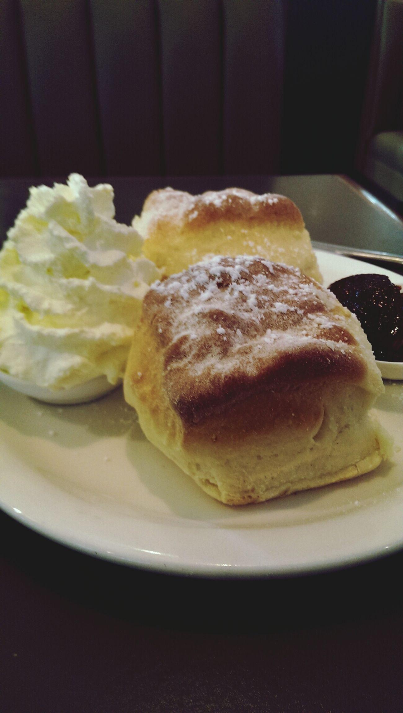 Butter scones with jam and cream! Nom Nom Nom Food Photography Yummy Dessert