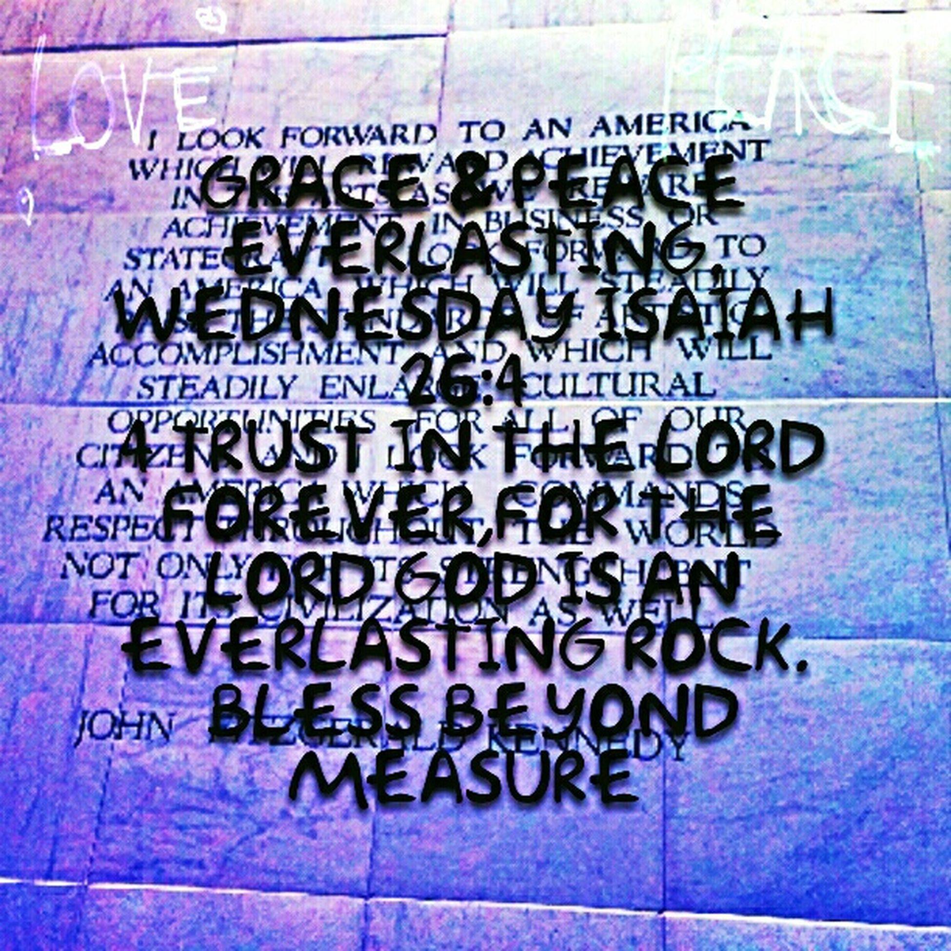 Grace & Peace Everlasting Wednesday