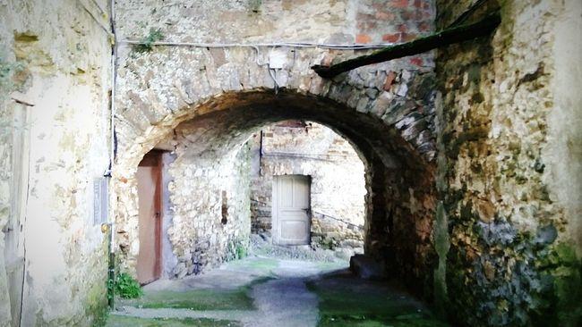 Riviera Dei Fiori Italian Riviera Liguria - Riviera Di Ponente Urban Landscape Ancient Village Borgo Antico Old Village Val Verbone Perinaldo Carrugio