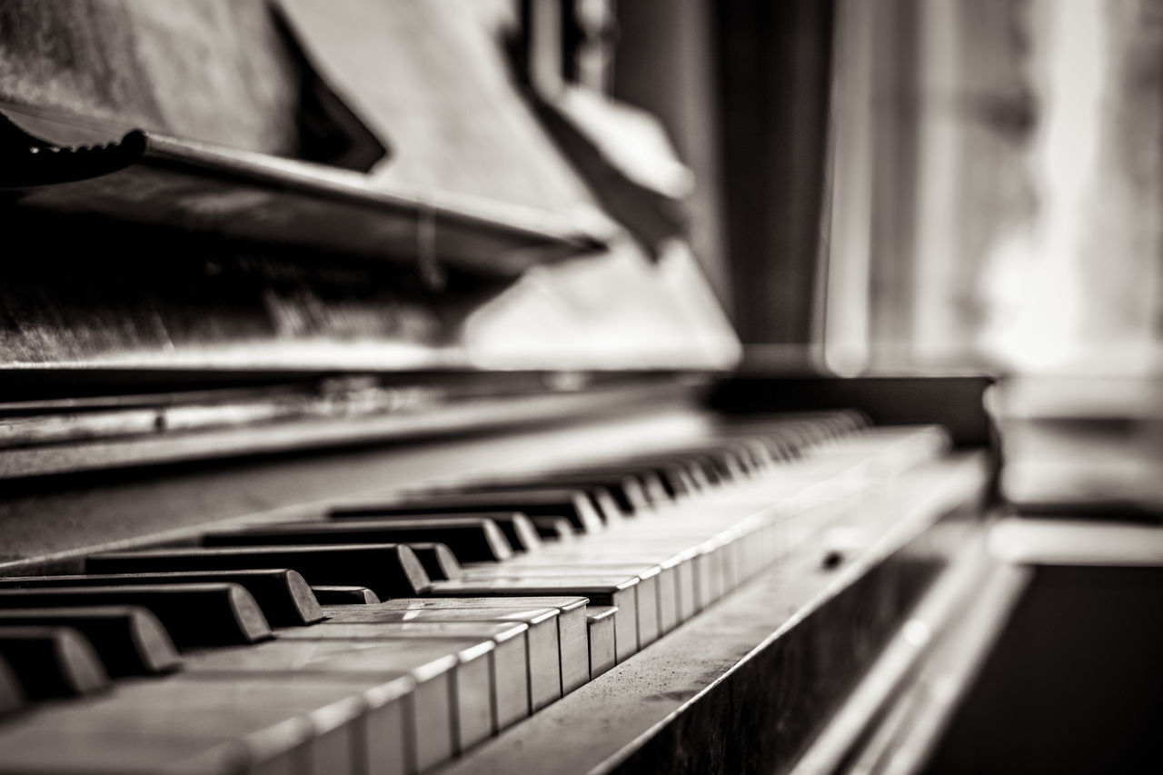 Black & White Black And White Blackandwhite Calm Grief Indoors  Instrument Instruments Klavier Lost Place Lost Places Mood Moody Music Music Instrument No People Piano Piano Key Piano Keys Piano Moments Silence Sorrow Still Life Still Life Photography Vanishing Point