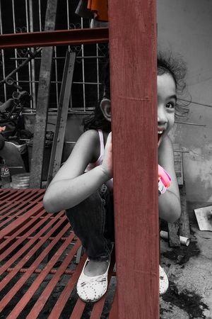 Hide and Seek Red Outdoors Hide And Seek Hideandseek Kidsphotography Kids Playing Kids Being Kids Playtime Kids At Play EyeEmBestPics Eyeem Philippines EyeemPhilippines EyeEm Best Shots Eyeemph Colorsplash Color Splash