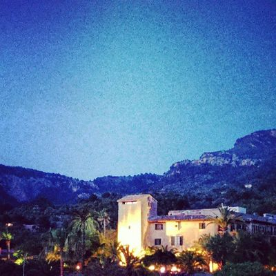 When the night came over Tramuntana. #PortDeSóller #Mallorca #Spain SPAIN Mallorca Portdesóller