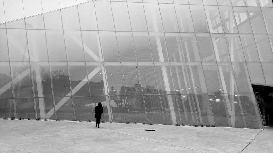Windows Futuristic Angle Design Slanted Architecture One Person Glass And Steel Modern Cityscapes Silhouette Unique Perspective Oblique Building Black And White Modern Architecture Montréal Canada