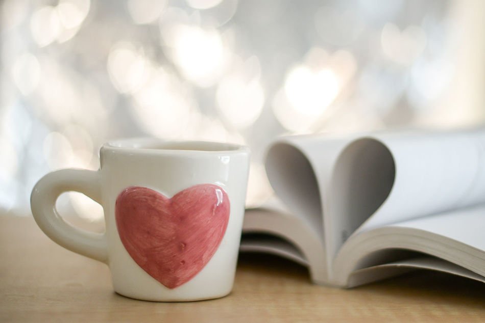 Close-up Coffee - Drink Coffee Cup Day Food Food And Drink Freshness Heart Shape Indoors  Love No People Still Life Table