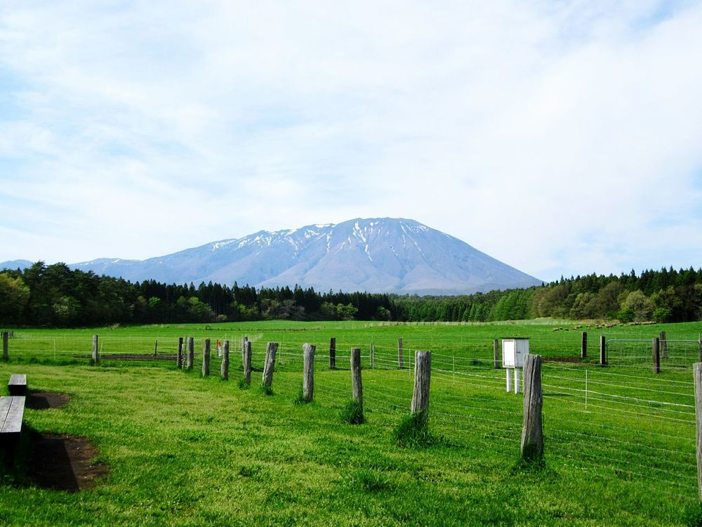 Mt.Iwate Mountain Landscape Tranquil Scene Tranquility Scenics Sky Field Cloud Grass Beauty In Nature Solitude Nature Fence Farm Rural Scene Countryside Mountain Range Green Color Day Agriculture