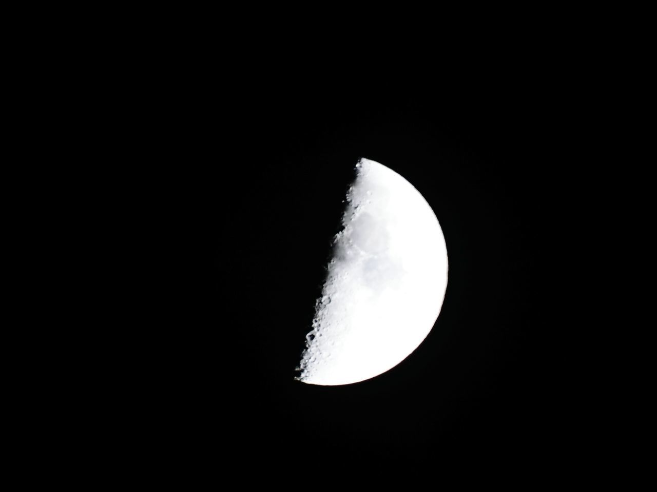 moon, night, beauty in nature, copy space, nature, scenics, moon surface, planetary moon, half moon, astronomy, tranquility, tranquil scene, no people, clear sky, outdoors, low angle view, sky, space