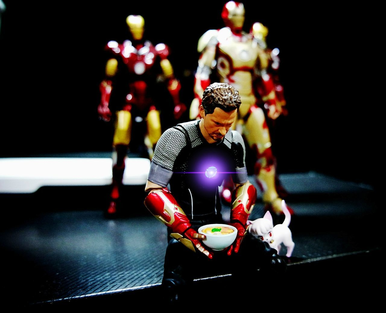 When ramen is the only option.. 🍜 Tony Stark Iron Man BANDAI Tamashiinations SHfiguarts Shfiguartsphotography Shf_ph Toyphotography Toycollectors