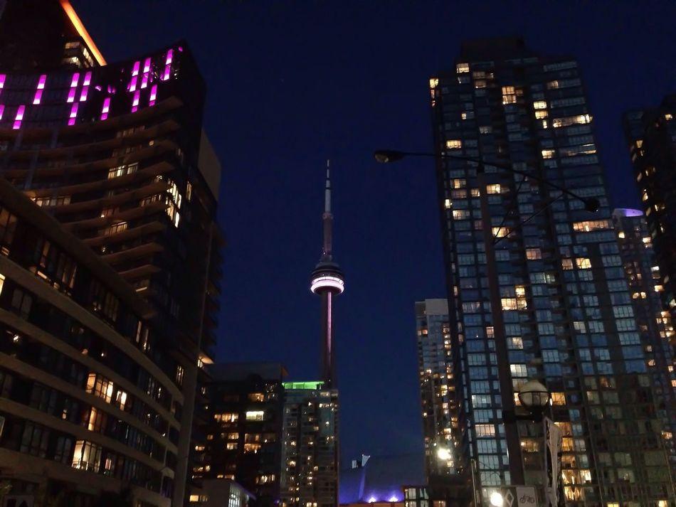 City Lights CN Tower Nightphotography EyeEm Best Shots Cityscapes