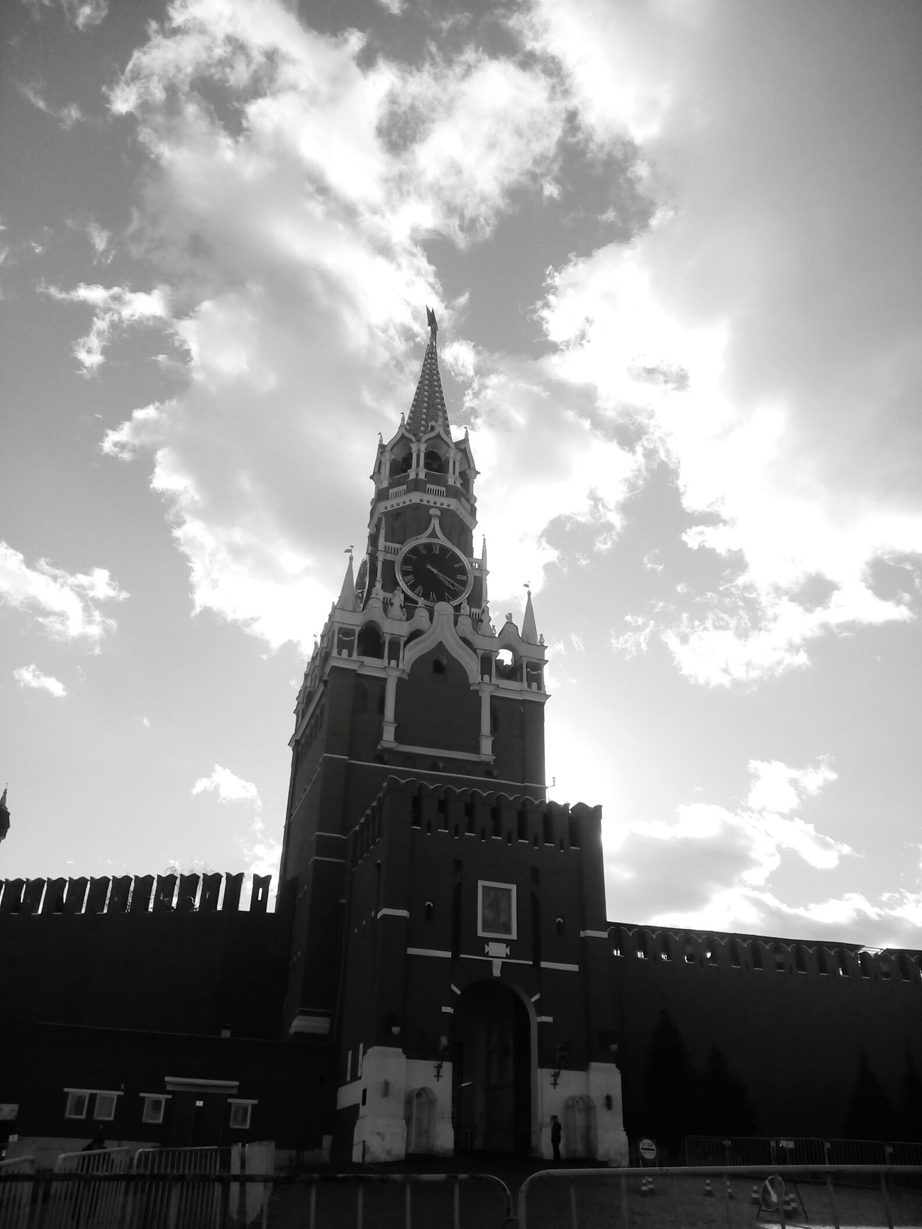 Travel Destinations Business Finance And Industry Cloud - Sky Architecture Tower No People Clock Sky Place Of Worship Built Structure Outdoors Clock Tower Day Moscow Architecture Black & White Kremlin