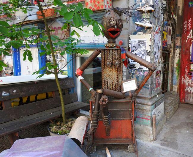 Face Fantasy Joke Loughing Metal No People Old Robot