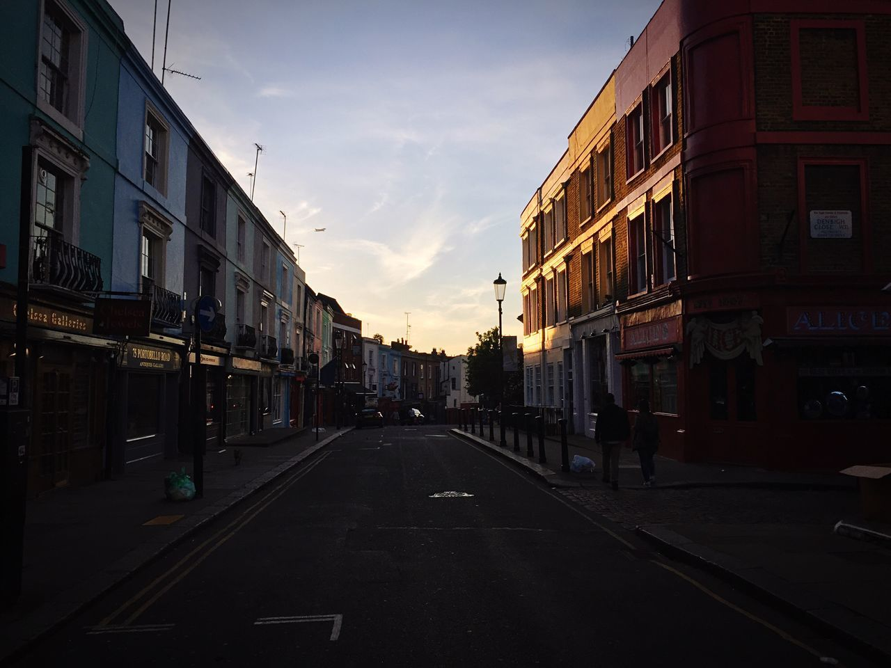 Evening Walk Building Exterior Architecture Built Structure Sky The Way Forward Street Cloud - Sky Outdoors Road No People City Sunset Day City