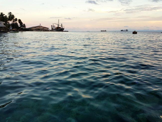 Water Waterfront Sea Rippled Nautical Vessel Sky Distant Biak Papua Indonesia