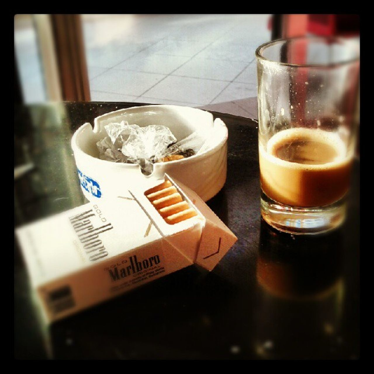 Coffee Cafe Ashtray  Cigarettes Matlboro Break Afterwork Relax Beverage Tired tunis Tunisia