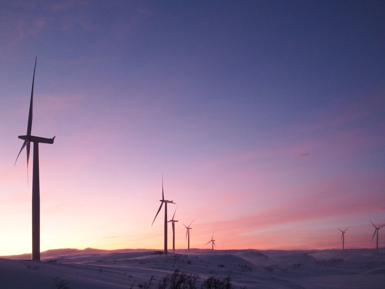 From Abisko to Narvik. Enjoying The View It's Cold Outside Morning No People Outdoors Renewable Energy Showcase: January Sky Snow Sunrise Taking Photos Technology Travel Travel Photography Traveling Wind Turbine Winter My Favorite Photo The Great Outdoors - 2016 EyeEm Awards