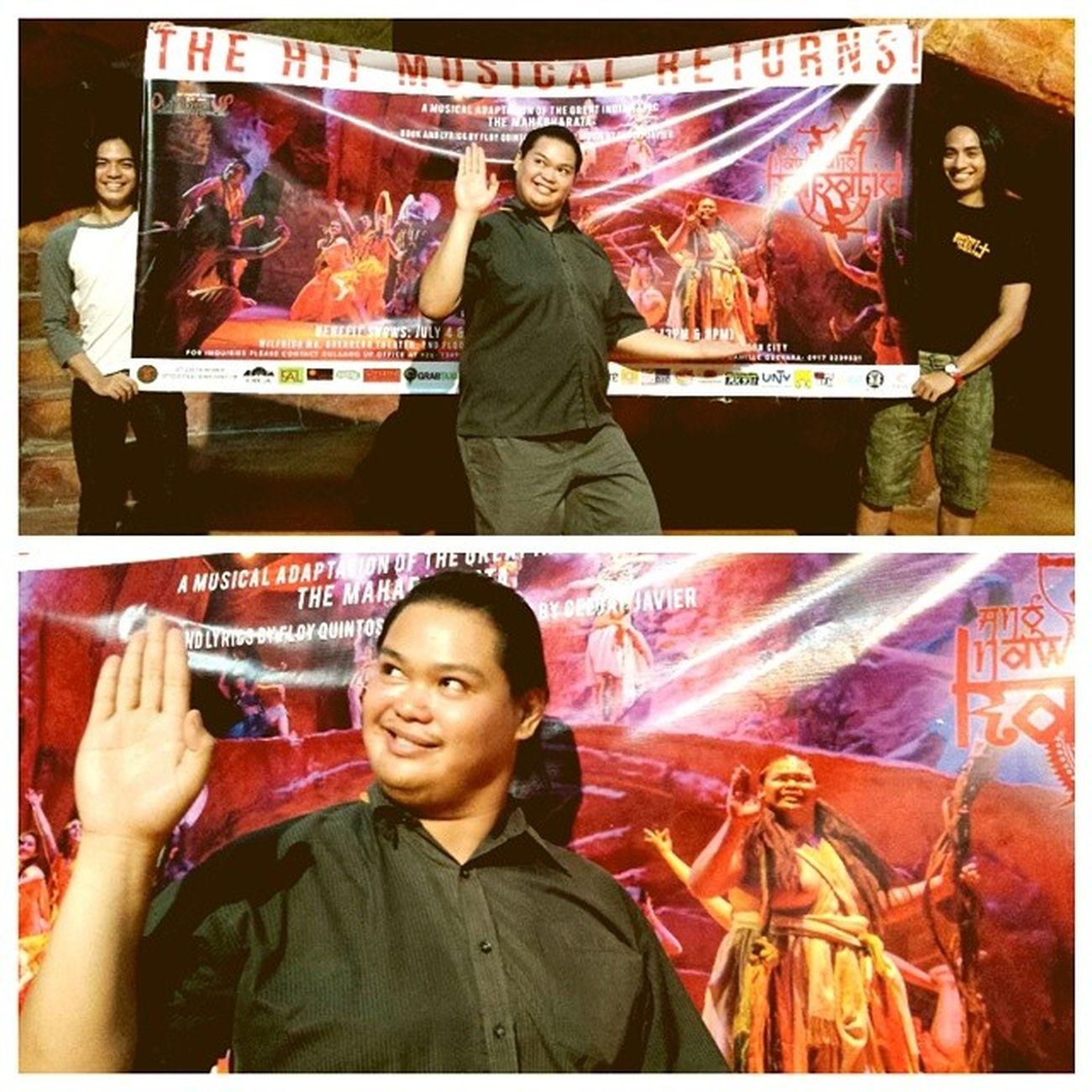 Jules dela Paz as Vyasa, invites ypu to watch the rerun of the hit musical, AngNawalangKapatid ! We open on Friday! InstaMagAndroid