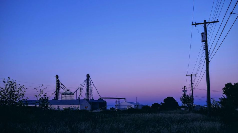 A day in the Life. August 12, 2016 Friend, Nebraska 35mm Camera Americans Blue Hour Camera Work Color Photography Copy Space Dusk Electricity Pylon Electricity Tower EyeEm Best Shots Eyeemphoto FUJIFILM X100S Nebraska No People Off Camera Flash Photo Essay Rural America Rural Scene Scenics Selects Shoot Your Life Small Town Stories Storytelling Summertime The United States