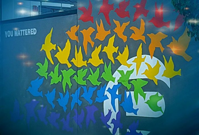 Beautiful Pulse Nightclub Memorial Mural in Orlando ❤💛💚💙💜 No People Multi Colored Pulse Pulse Nightclub Memorial Mural Street Art Street Art/Graffiti 49 OneOrlando Lgbtq Rainbow Lgbtcommunity OneLove Orlando Orlando Florida Pulse Shooting You Mattered You Matter Downtown Orlando  City Tribute Orlando United Orlandostrong Orlando Shooting Victims= The Street Photographer - 2017 EyeEm Awards Place Of Heart
