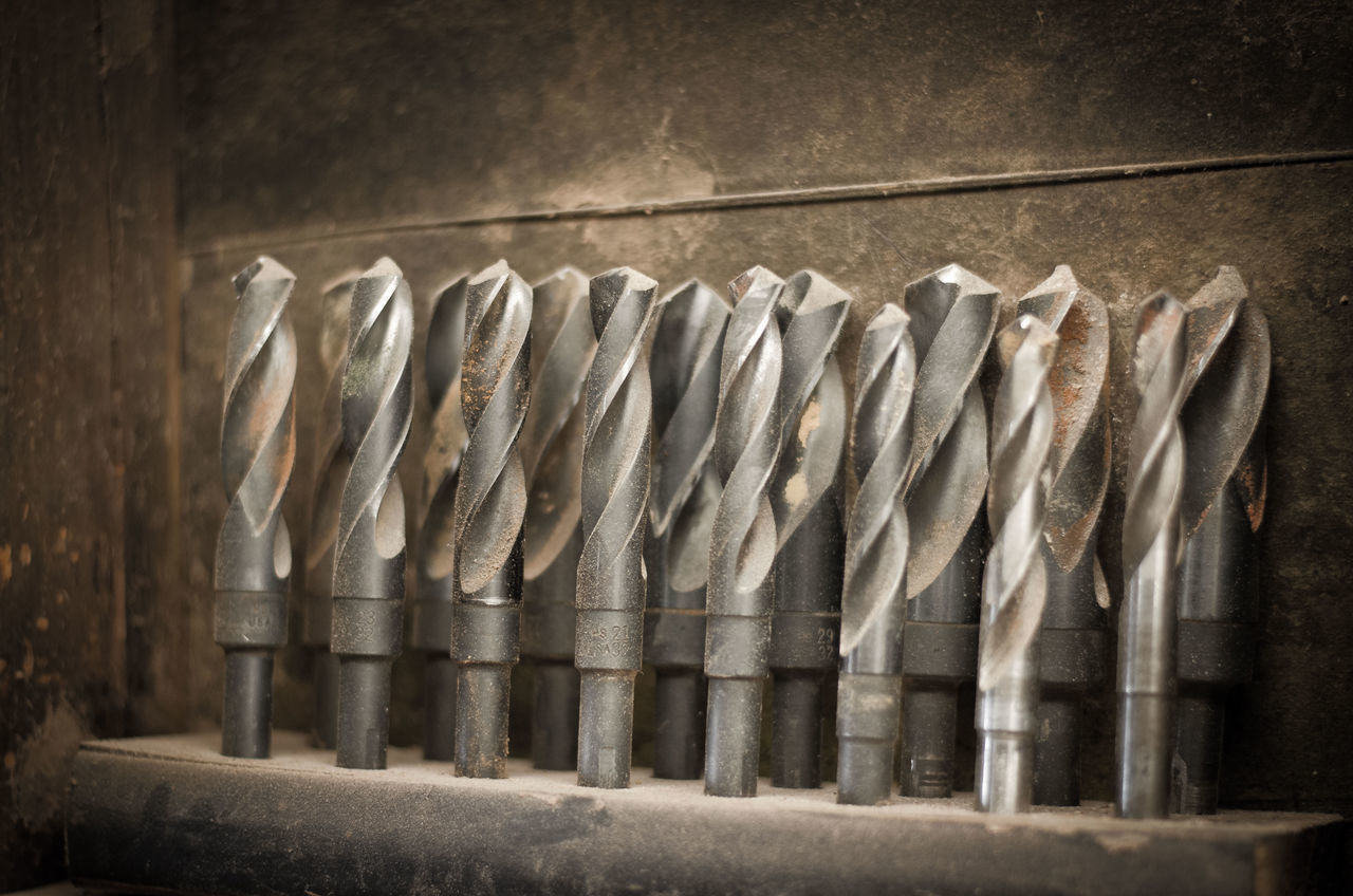 Beautiful stock photos of work, Arrangement, Close-Up, Drill Bits, Group Of Objects