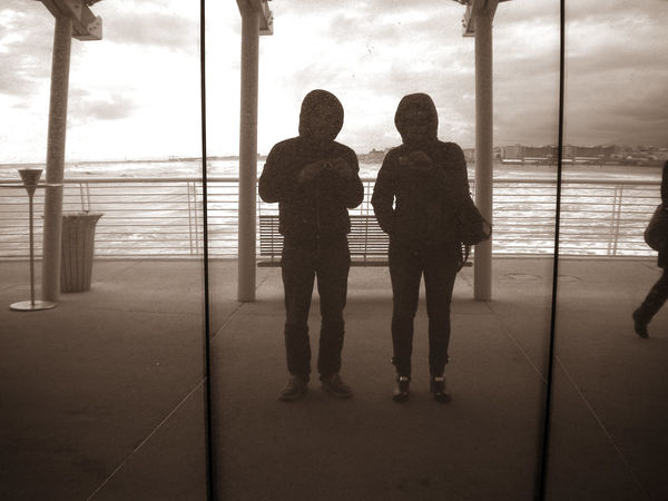 Bad Weather Mirrorselfie Reflection Standing Wharf Showcase March Belongs To Me Telling Stories Differently People And Places Monochrome Photography