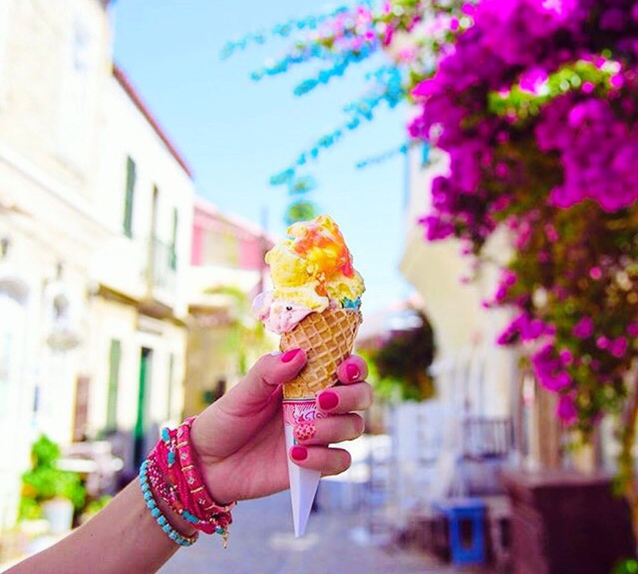 Hello ! Ice Cream Summer Fresh Pink ☀️🍦💦