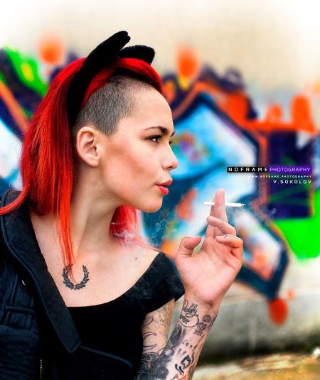 www.eyeem.com/u/noframephotography Photography: V.Sokolov www.fb.me/v.sokolovphotography Design: idle Stoev www.idle.design /////////////////////////// www.noframe.photography project ;) ExpressYourself Facial Expression Girl Smoking Grafitti Idlebg Lifestyles Long Hair Modeling Noframe.photography Portrait Redhead Tattoo Tattoomodels Teenage Girls Urban Life Urban Lifestyle Woman Of EyeEm Woman Portrait Woman Who Inspire You Young Adult Young Women
