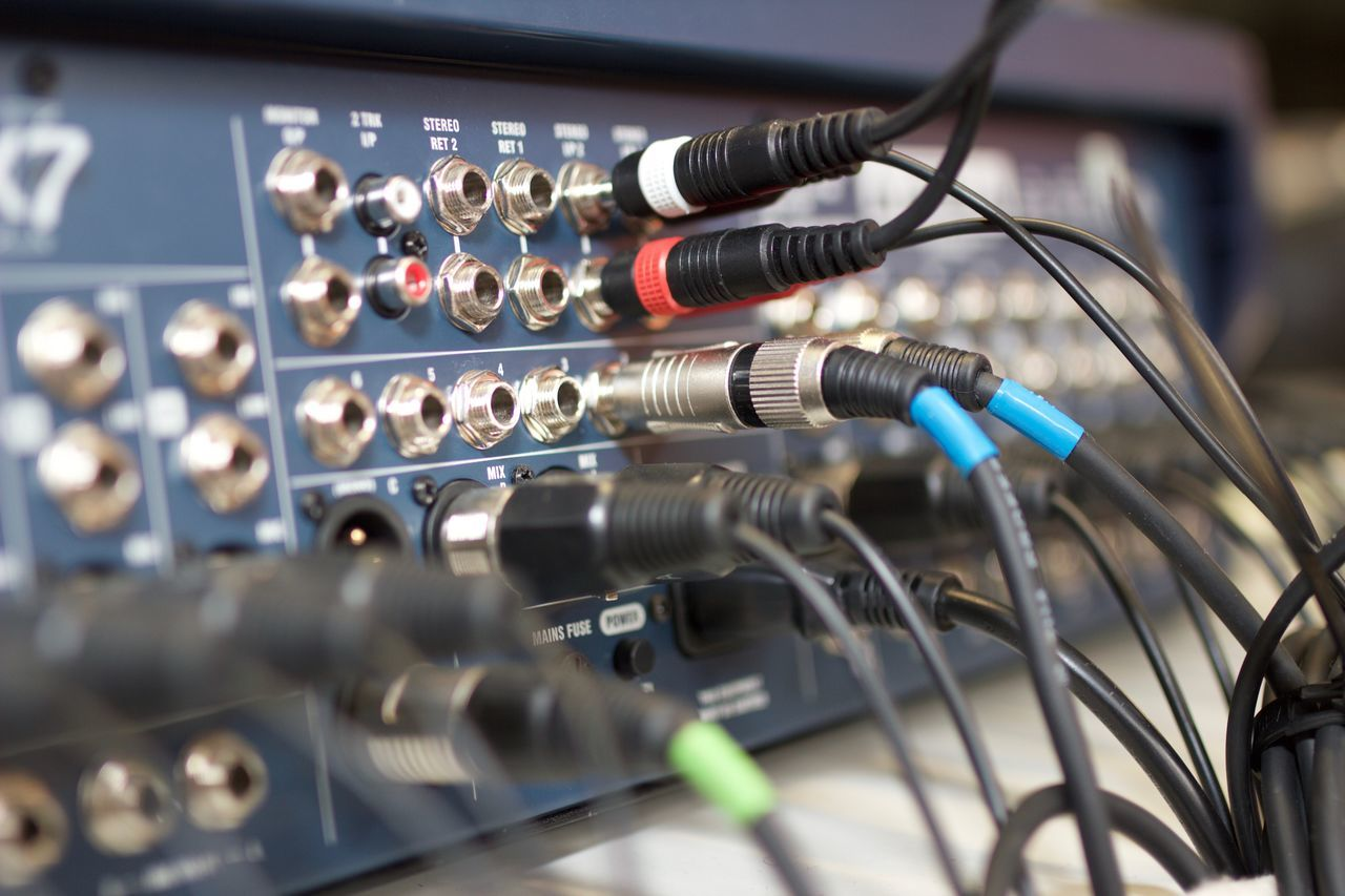 Beautiful stock photos of musik, Amplifier, Arts Culture And Entertainment, Audio Equipment, Cable