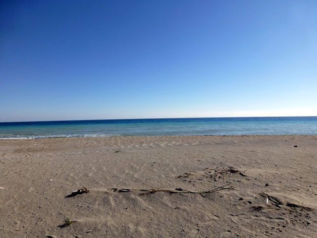 Beach Beauty In Nature Blue Clear Sky Coastline Horizon Over Water Nature Sand Sea The Beach Of Winter Tranquil Scene Tranquility Vacations