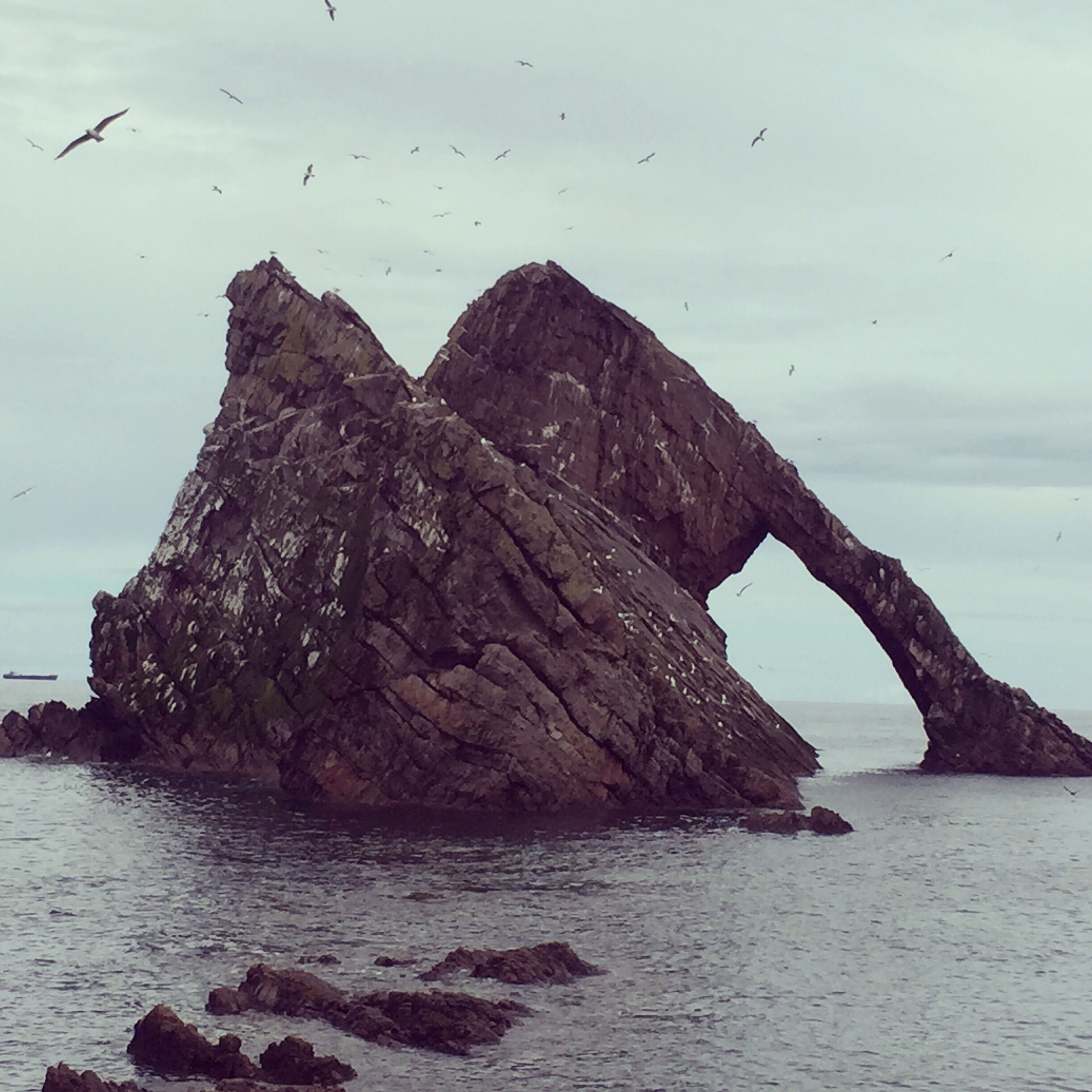 Bow fiddles rock Rock Formation Rock - Object Beauty In Nature Natural Landmark Coastal Feature Sea Bow Fiddle Rock,