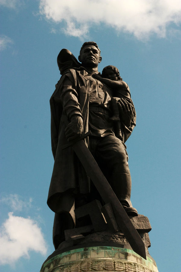 The soviet soldier statue in Berlin, Treptower Park. Berlin Berlin Photography Heroic Soldier War Memorial Art And Craft Cloud - Sky Day History Human Representation Low Angle View Monument No People Outdoors Sculpture Sky Soviet Soldiers Statue Statue