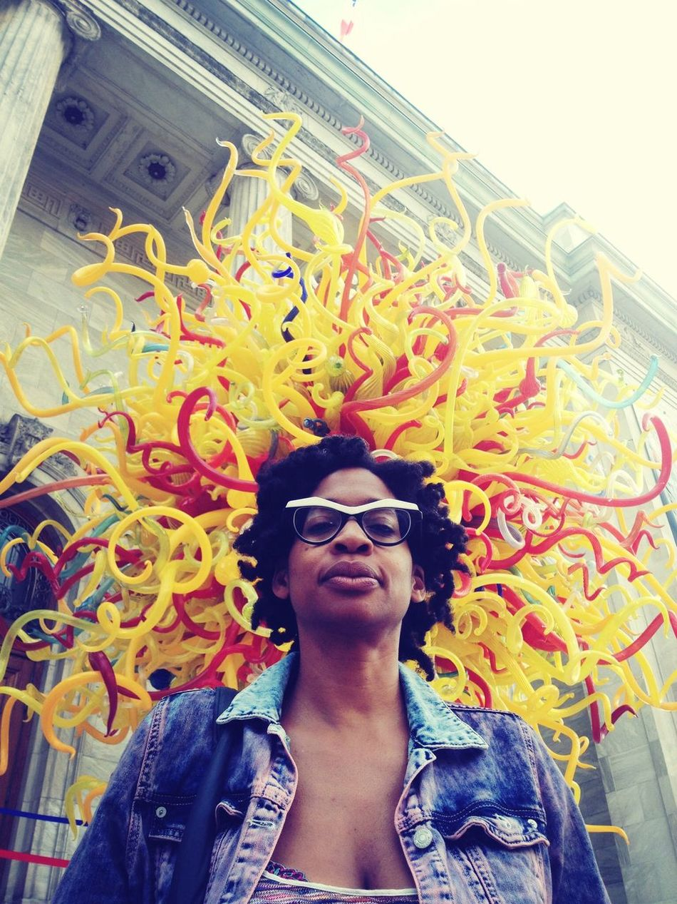Mom's . Chihuly . Glass . Hairdo .