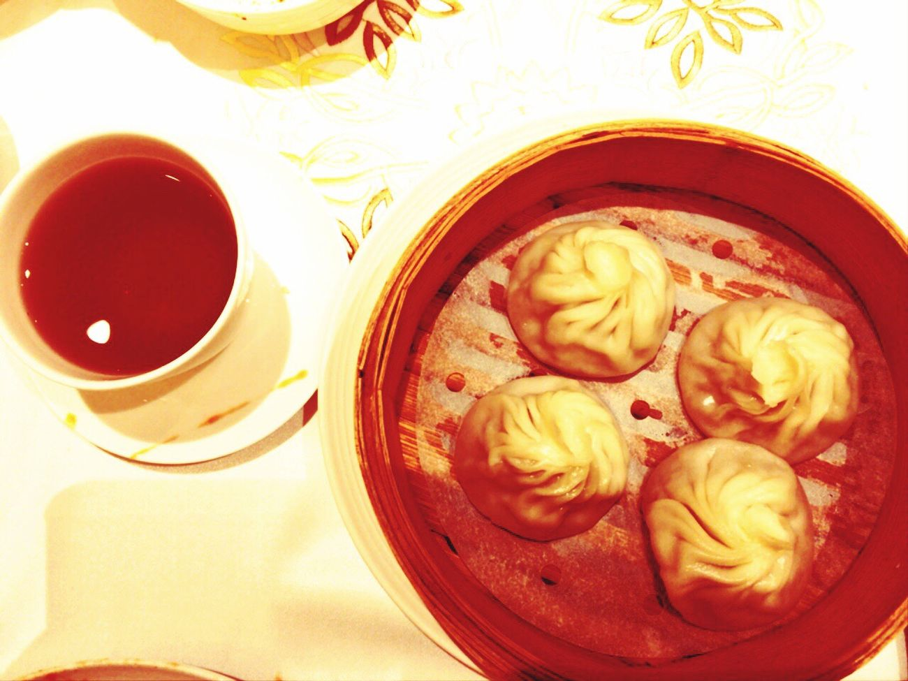View of Xiao Long Bao from above
