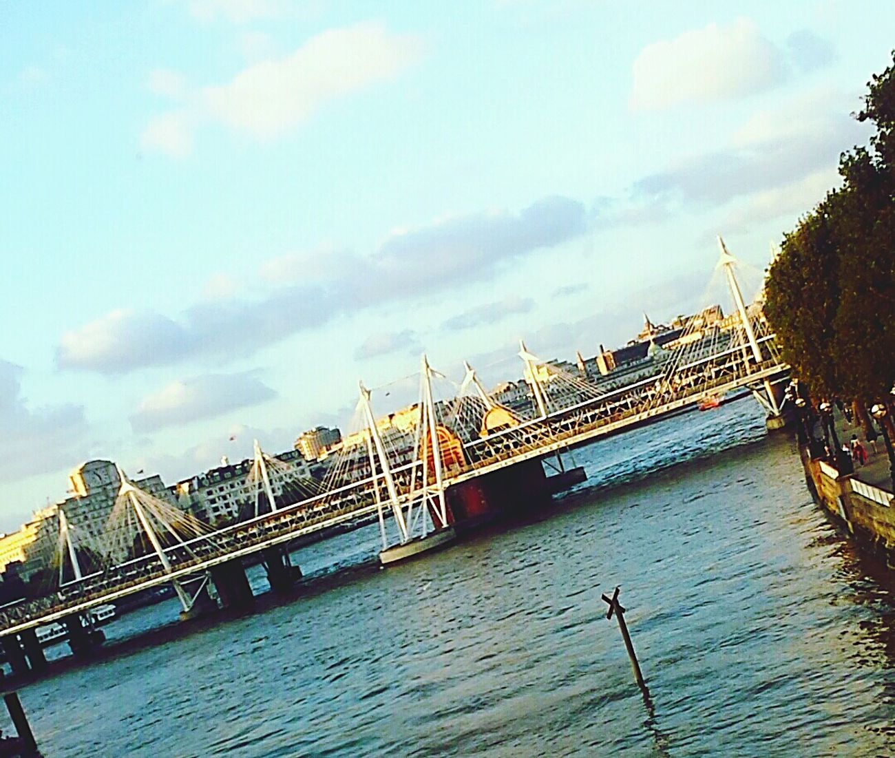 Londonisbeautiful Water Cloud Bridge Sky Londonlife Beautiful Day Enjoyment Beautiful View Lovely Weather Amazing Love To Take Photos ❤ Colour Of Life Colours