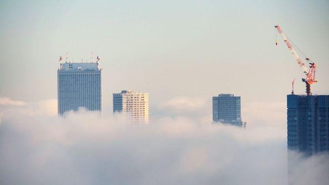 Skyscraper Sky Cloud - Sky Fog City Office Building Tower Construction Work Unrealistic
