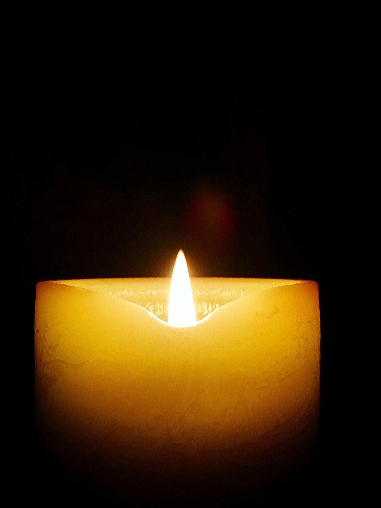 Burning Flame Heat - Temperature Close-up Illuminated Lighting Equipment Dark Black Background Night
