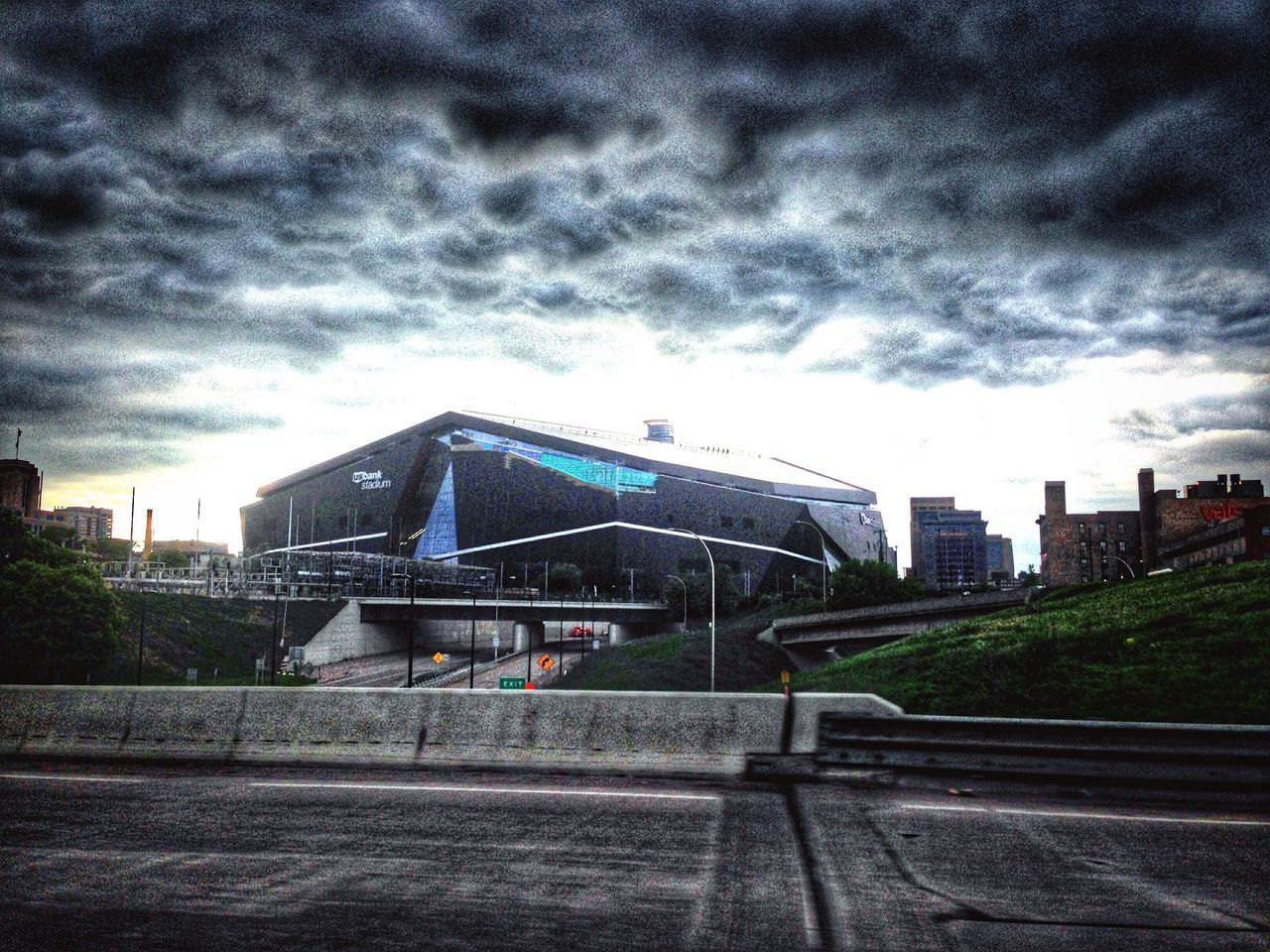 U.S.Bank Stadium DowntownMPLS Minneapolis Minnesota Urban Photography Sky And Clouds Urbanphotography Afternoon Blues Urban Geometry Architecture Urban Landscape Cityscapes Urbanscape Urban Lifestyle