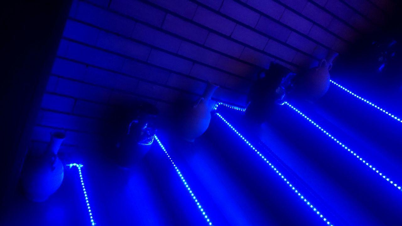 Blue Lights Stairs Jars  Iraqi  Baghdad