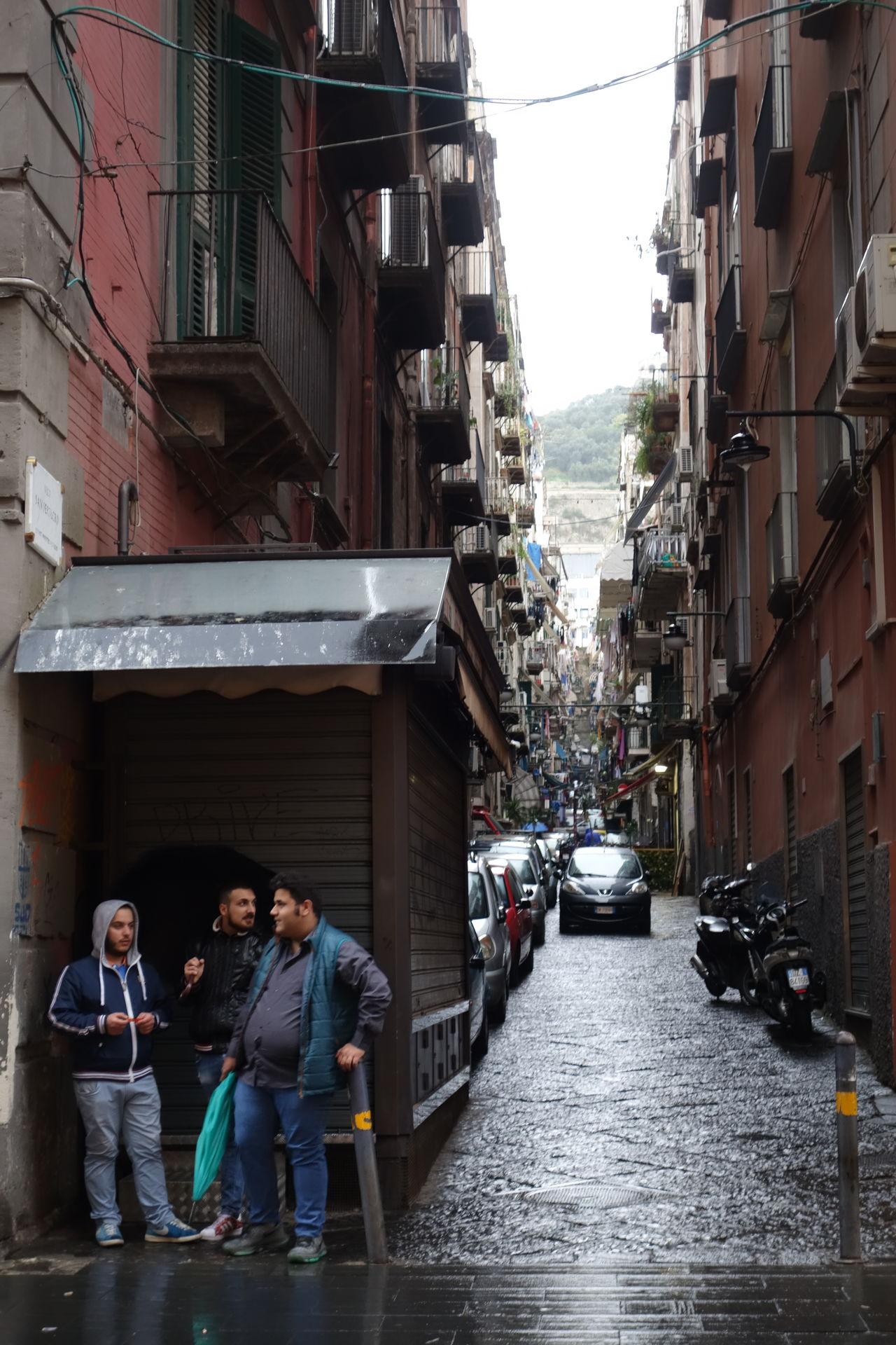 Napoli Naples Side Street Via Toledo