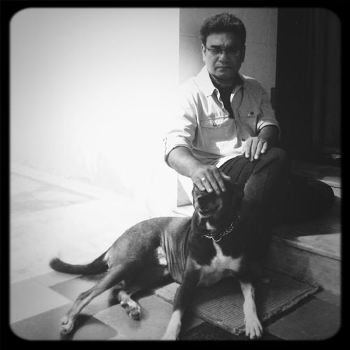 DIWALI day at home with my pet Thippu