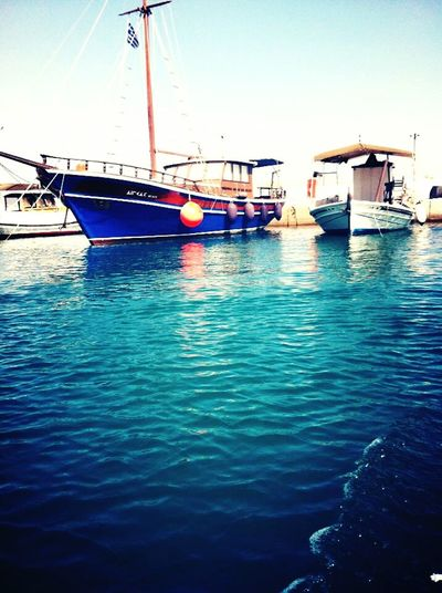 The marina at Kanapitsa in Xalkida, Greece. Boats⛵️ Xalkida Water Reflections GREECE ♥♥ Sea Marina