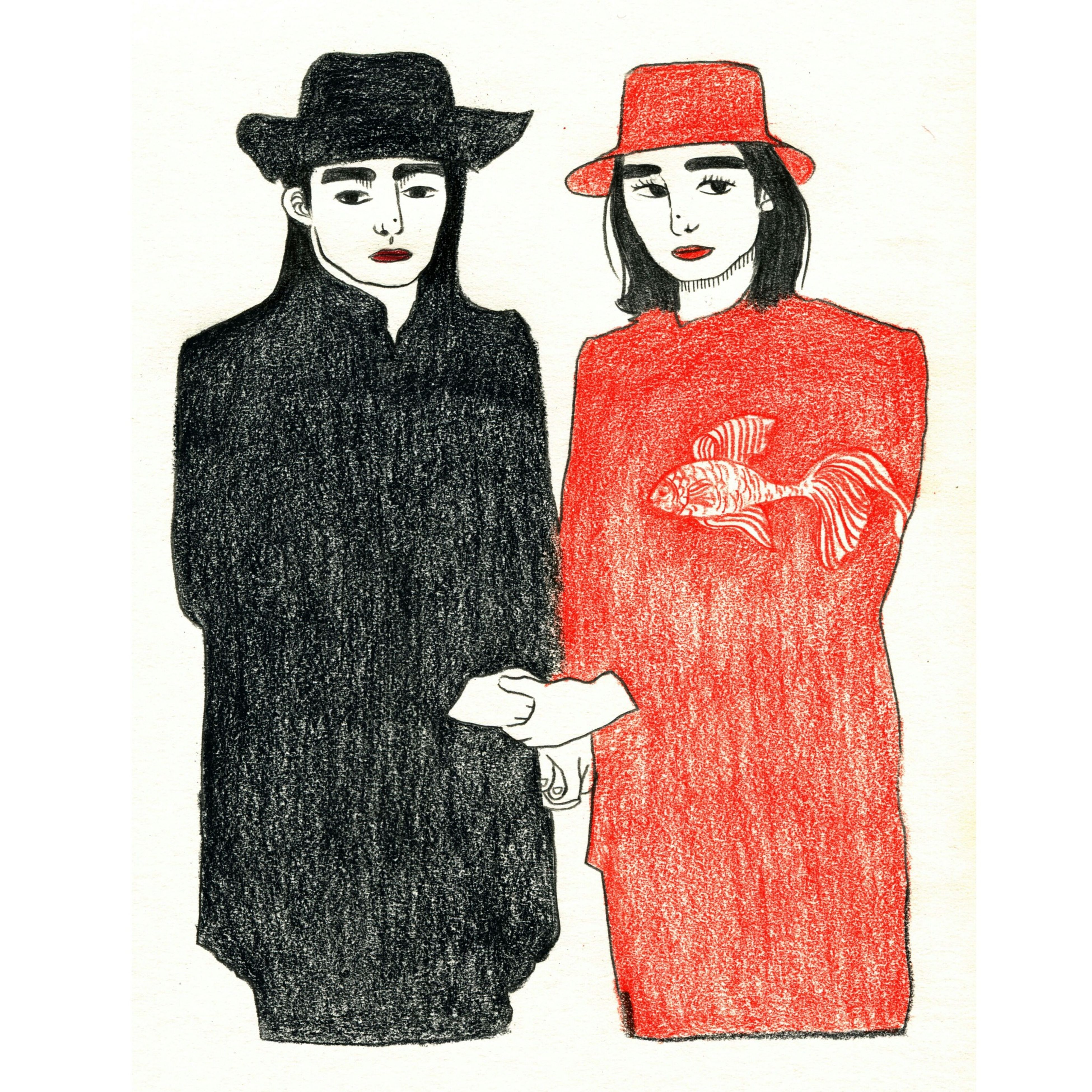 Illustration Drawing ✏ Art Illust We are like different, but our love is