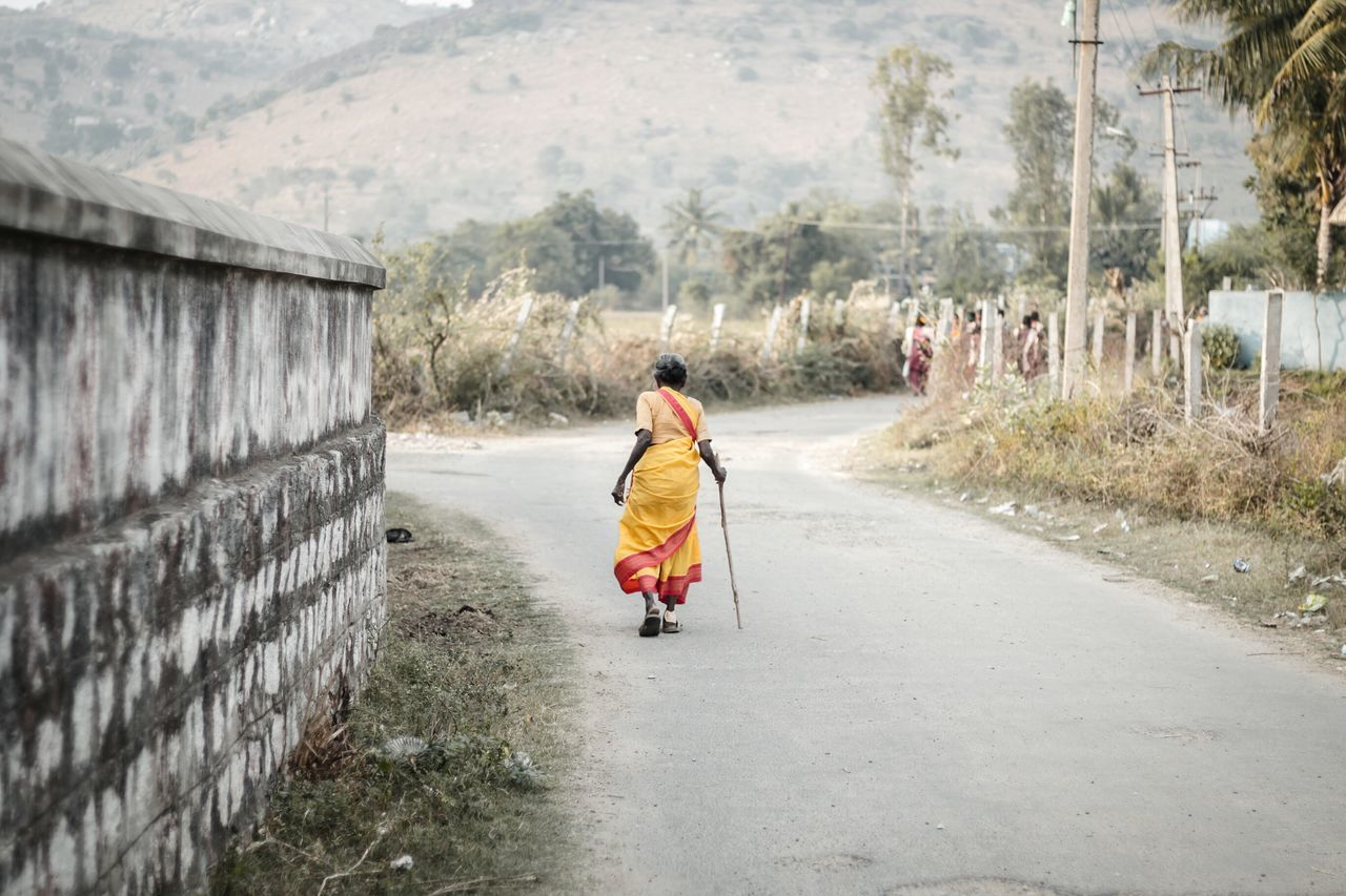 Exploring Style The Way Forward Outdoors One Person Tree Day People Adult One Woman Only Adults Only Nature Taking Photos Travel Photography Nature Old Woman Weak Colors Saree Tamilnadu Tadaa Community India EyeEm Best Shots Beauty In Nature Old Walking