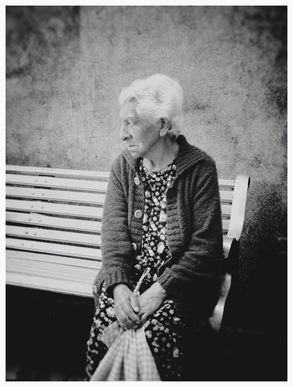 """Loneliness"" Senior Adult Real People One Person Senior Women Women Outdoors Only Women People Blackandwhite Portrait Streetphotography Monochrome Bolivia Cochabamba EyeEm Best Shots - Black + White"