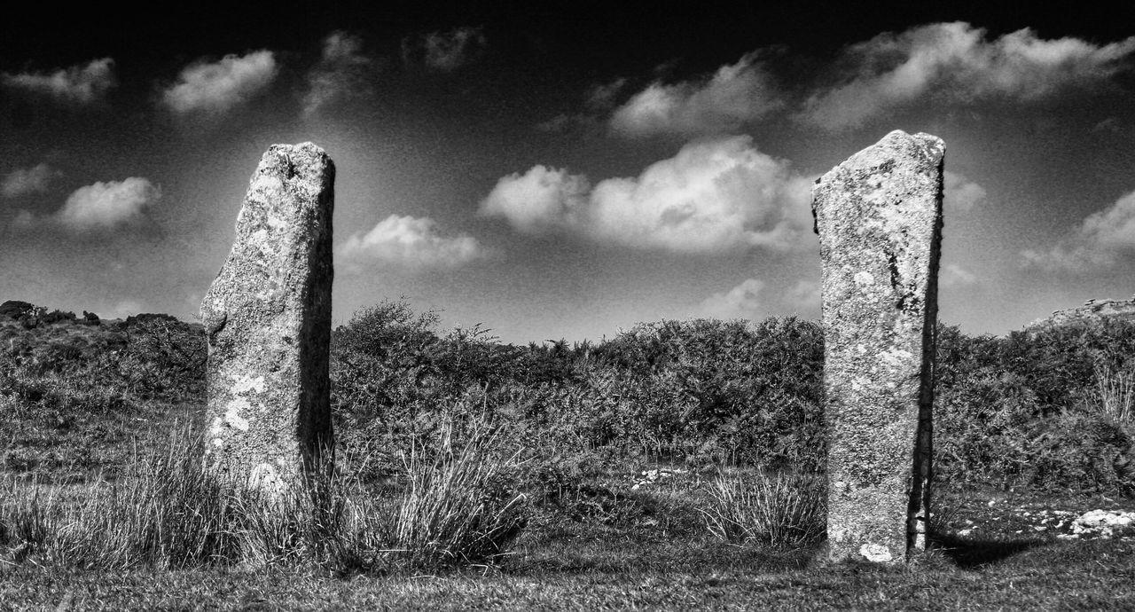 Minions The Hurlers Blackandwhite Cornwall Standing Stones England