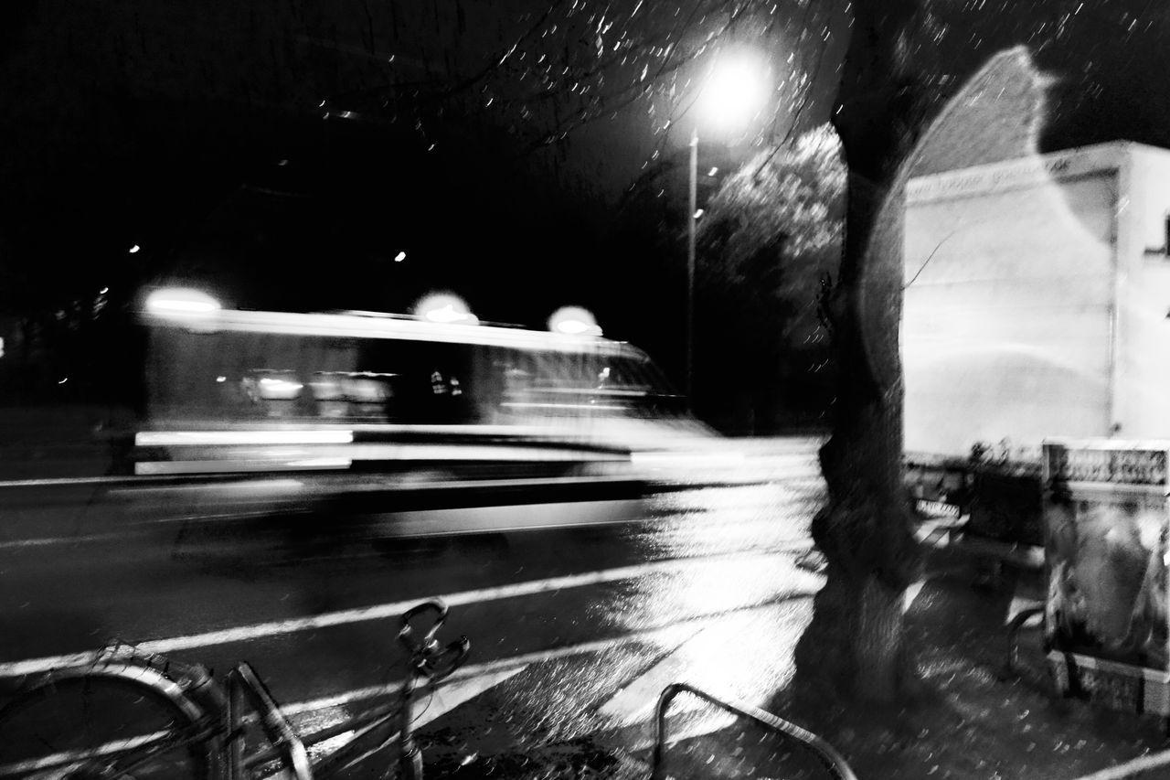 11.01.16 Geisterbahn Gohst Leipzig Motion Night Reflection Speed Street Transportation