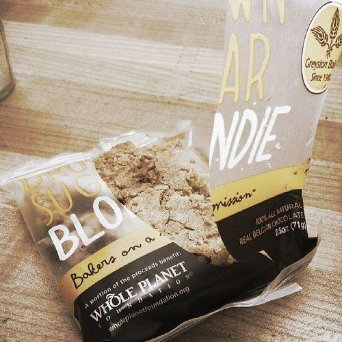 Whole foods blondies! Wholefoods Wholeplanet Blondie