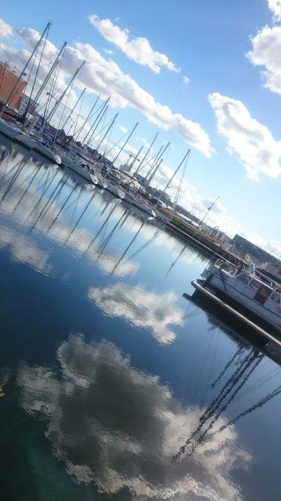 Ciel Et Nuages Nuages Ciel Sky Reflection Water Reflections Cloud Nofilter Le Havre