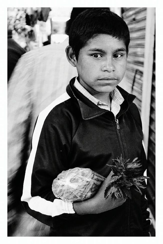 Looking At Camera Beautiful People Blackandwhite Photography Person Photography Innocence Mexicanphotographer Portrait Foodphotography Blackandwhite Mexican Culture Streetphotography Serious