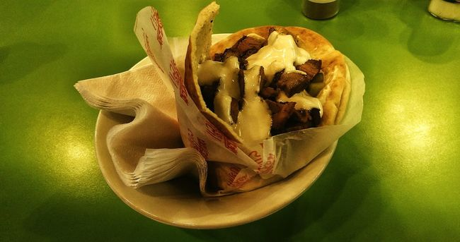 Shawarma Eating With Friends Out And About Jewish Food