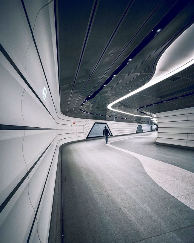 Futuristic Architecture Built Structure Transportation Modern No People Futuristic Illuminated Technology City Day